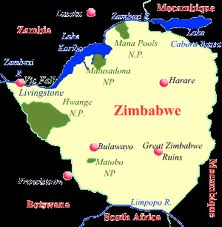 Map of Harare Zimbabwe