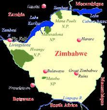 Map of Harare Zimbabwe